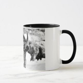Frosty Yellowstone Bison Mug