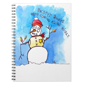 Frostys Biceps Spiral Notebook