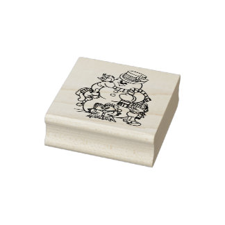Frosty's Friends Christmas Rubber Stamp