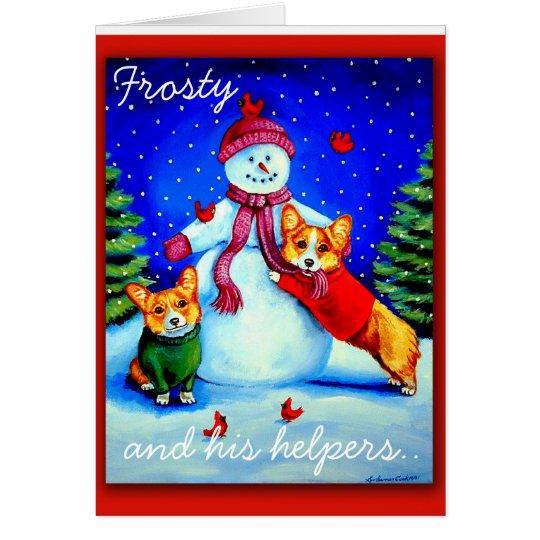 Frosty's Helpers card
