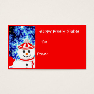 FROSTY'S NIGHT Snowman Holiday Gift Tag