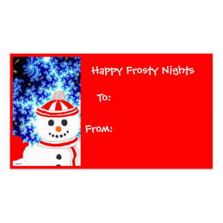 FROSTY'S NIGHT Snowman Holiday Gift Tag Pack Of Standard Business Cards