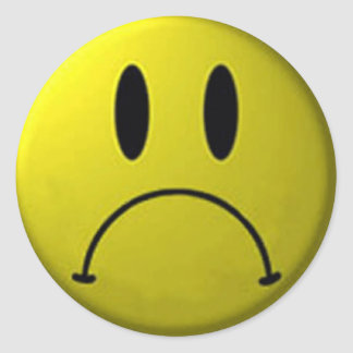 Frown Face Sticker