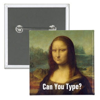 Frowning Mona Lisa Pinback Button