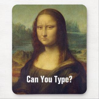 Frowning Mona Lisa Mouse Pad