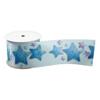 frozen blue and purple stars ribbon satin ribbon