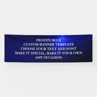 FROZEN BLUE CUSTOM BANNER TEMPLATE