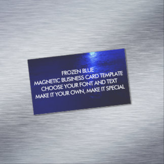 FROZEN BLUE MAGNETIC BUSINESS CARD TEMPLATE