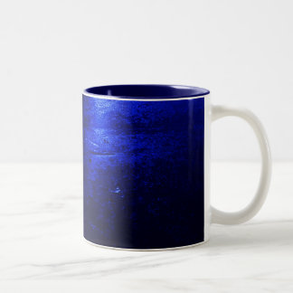 Frozen Blue Navy Blue 11 oz Two-Tone Mug
