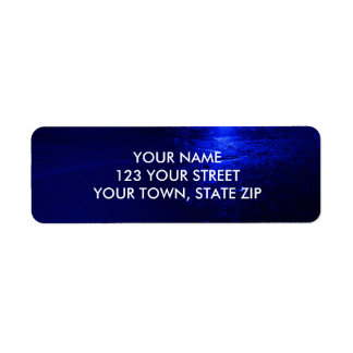 FROZEN BLUE RETURN ADDRESS LABELS