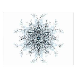 Frozen Bluebells Postcard