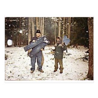 Frozen Britches Postcard