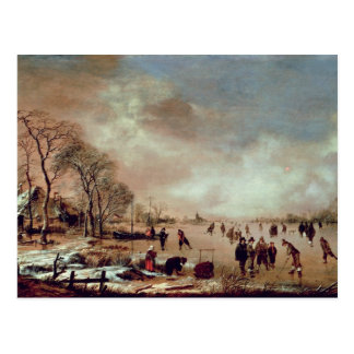 Frozen Canal Scene Postcard