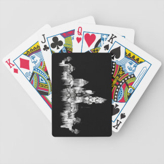 Frozen Castle - B&W Bicycle Playing Cards