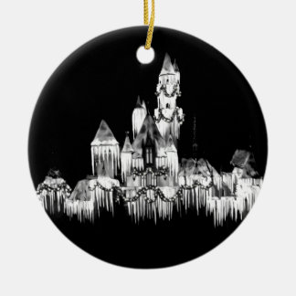 Frozen Castle - B&W Ceramic Ornament