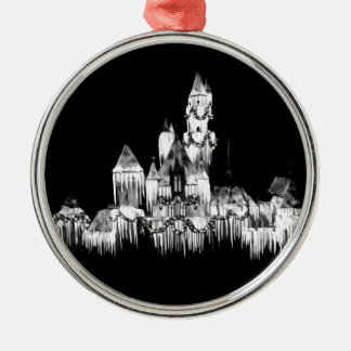 Frozen Castle - B&W Metal Ornament