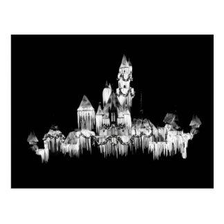 Frozen Castle - B&W Postcard