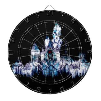 Frozen Castle - Snowflakes Dartboard