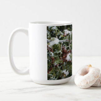 Frozen Cedar Tree Branch Coffee Mug