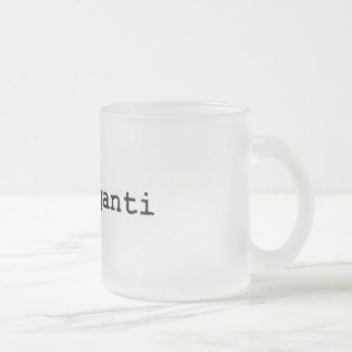 Frozen cup logo in fraganti frosted glass mug