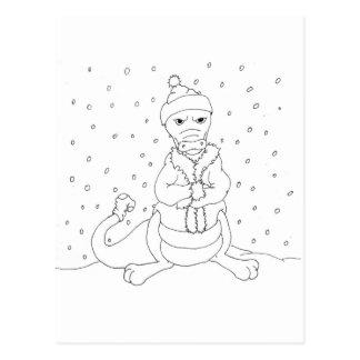 Frozen Dragon Postcard