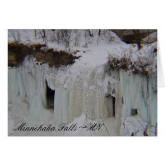 Frozen Falls Blank Greeting  Card