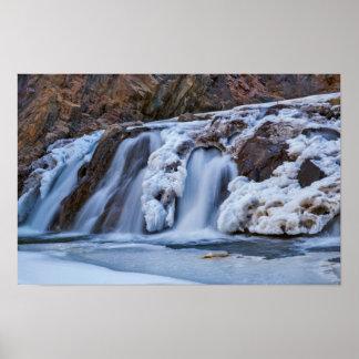 Frozen Falls in Colorado Poster