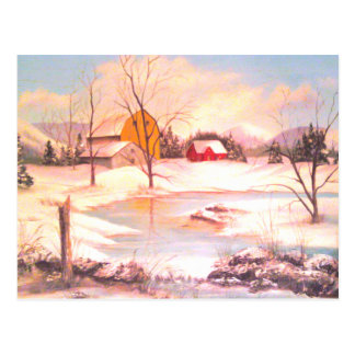 Frozen Farm Postcard