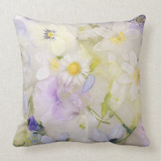 Frozen flowers cushion