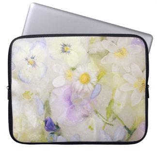 Frozen flowers laptop sleeve