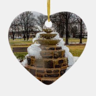 Frozen Fountain Ceramic Heart Decoration
