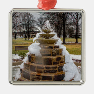 Frozen Fountain Metal Ornament
