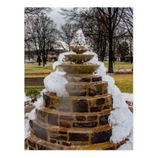 Frozen Fountain Postcard