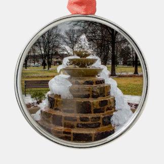 Frozen Fountain Silver-Colored Round Decoration