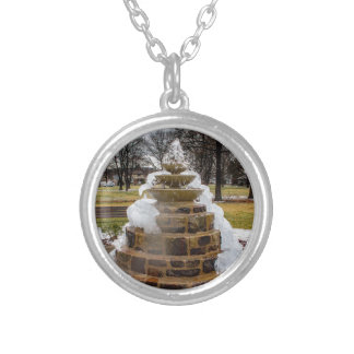 Frozen Fountain Silver Plated Necklace