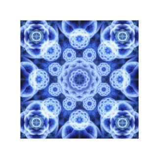 Frozen Galaxy Mandala Canvas Print