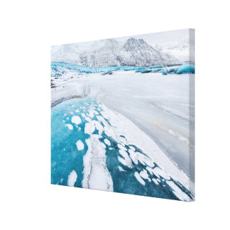 Frozen glacier ice, Iceland Canvas Print