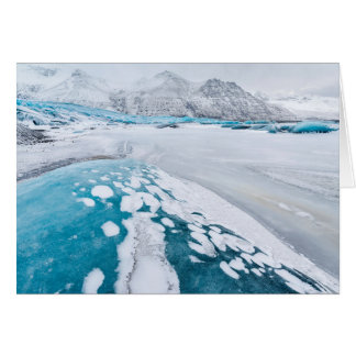 Frozen glacier ice, Iceland Card