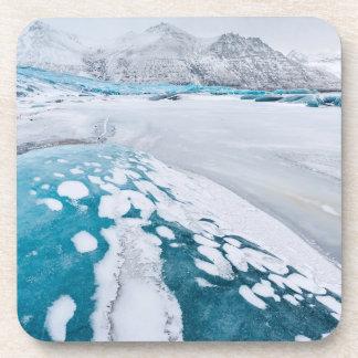 Frozen glacier ice, Iceland Coaster
