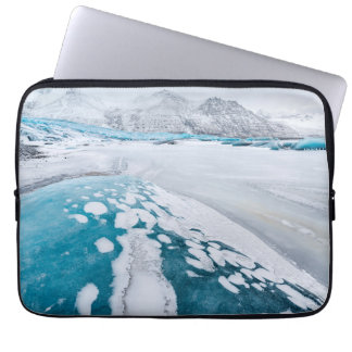 Frozen glacier ice, Iceland Laptop Computer Sleeve