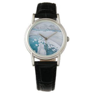 Frozen glacier ice, Iceland Wristwatch