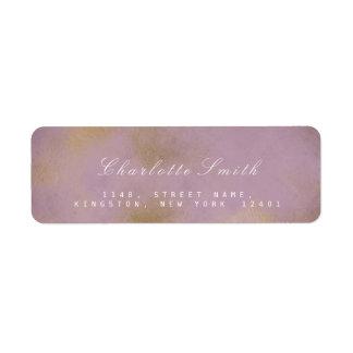 Frozen Gold Lilac Lavender Return Address Labels