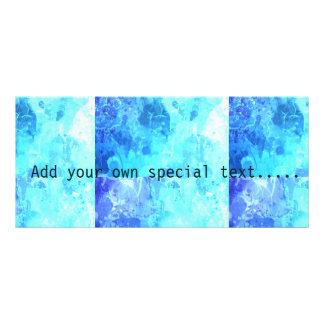 Frozen ice blue white abstract drip paint art chic customized rack card