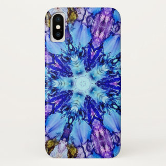 Frozen Ice Crystal Faerie Star Watercolor Mandala iPhone X Case