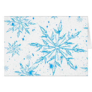 Frozen ice crystal snowflake greeting card