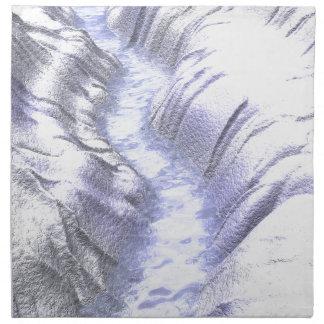 Frozen Ice River Printed Napkin