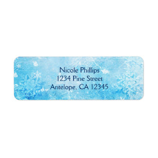 Frozen Ice Winter Wonderland Return Address Labels