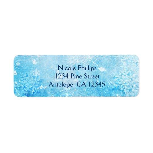 Frozen Ice Winter Wonderland Return Address Labels
