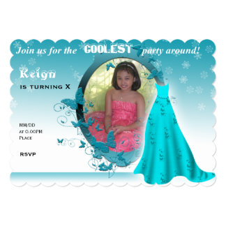 Frozen inspired invitation