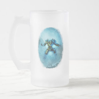 Frozen Knight frosted mug glass